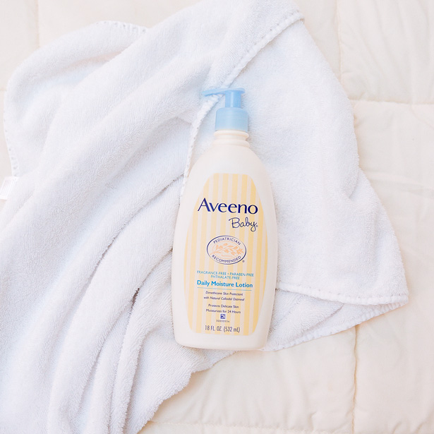 eczema lotion product shot from aveeno baby